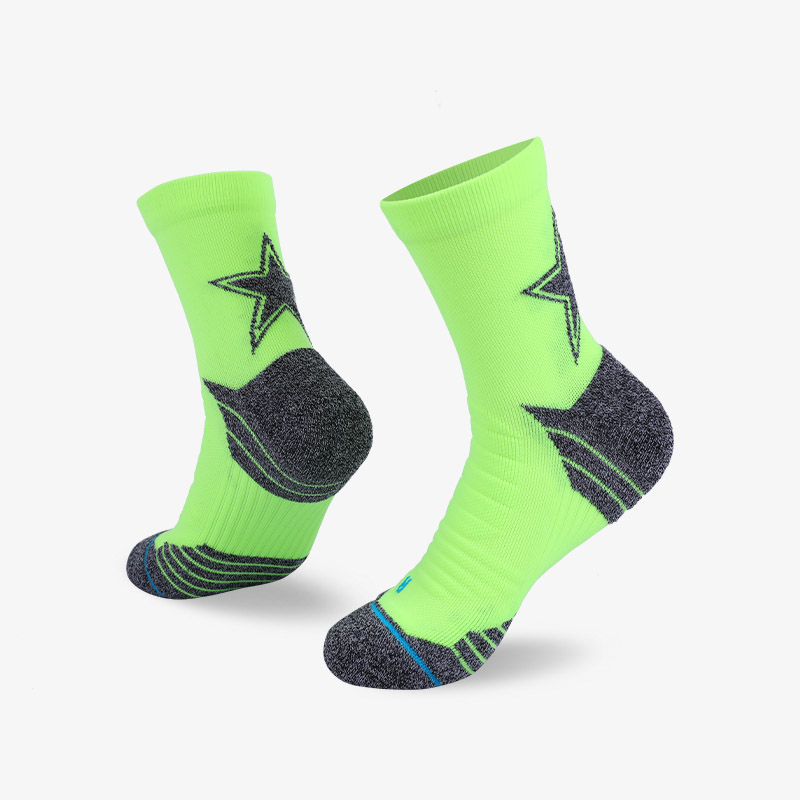 144N Gray stars and fluorescent green sport series