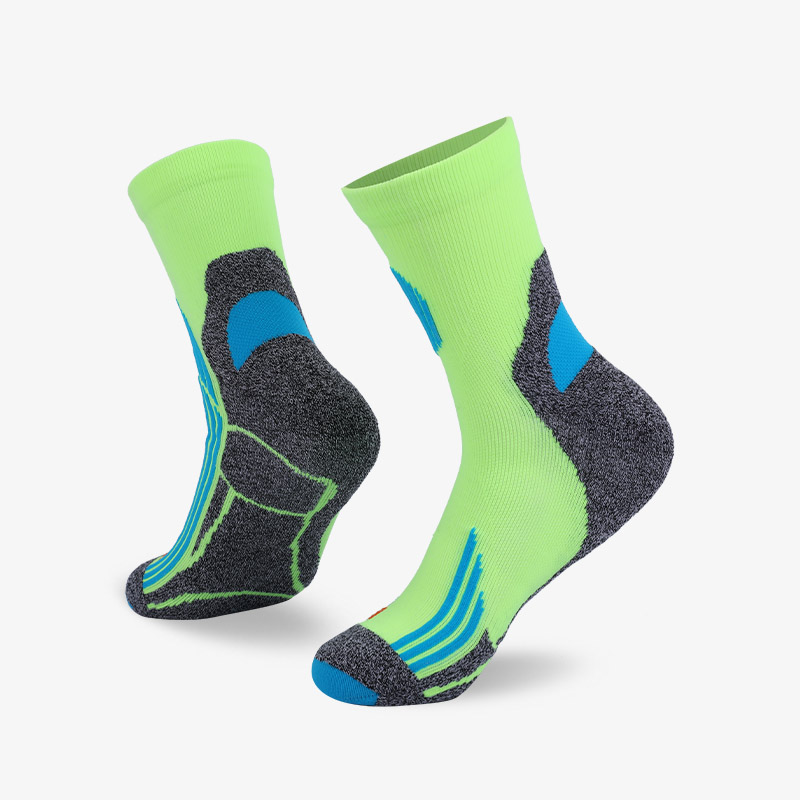 144N Fluorescent green and cyan stripes sport series