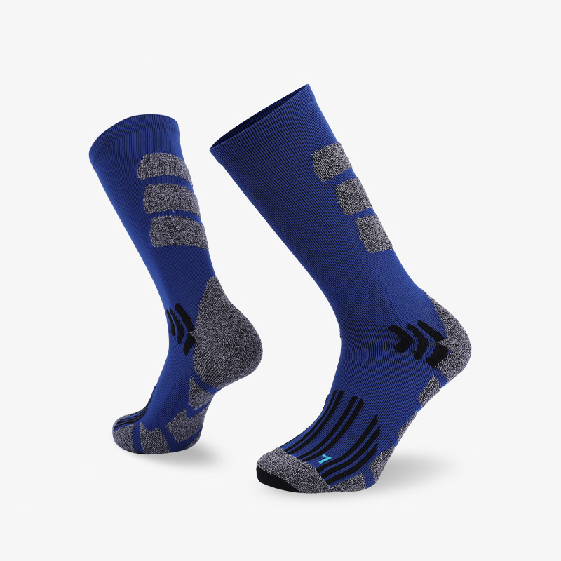 144N Blue body gray stripes sport series terry socks