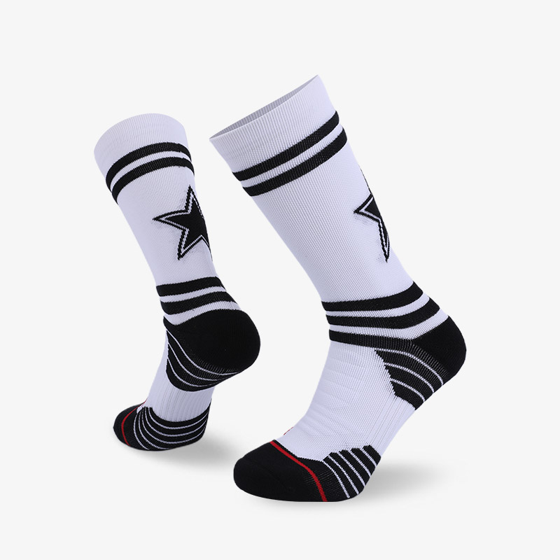 144N White and black sport series terry socks