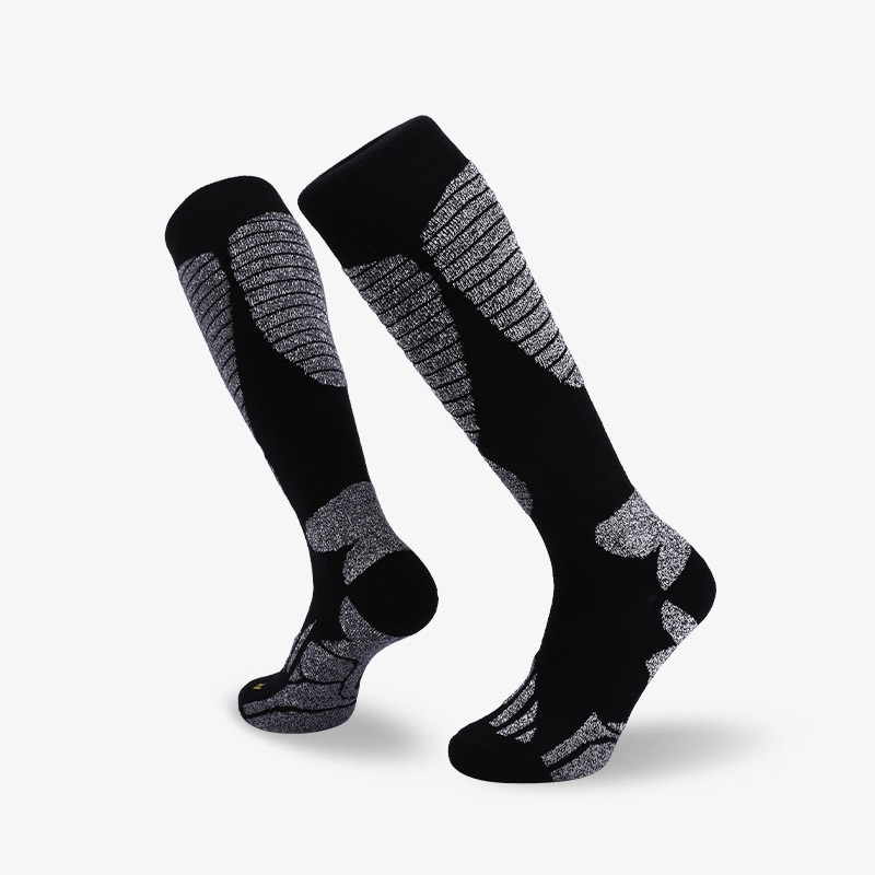 144N Black ash ski sock terry socks