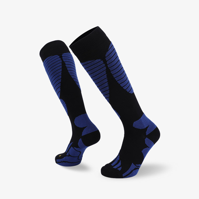 144N Black blue  ski sock