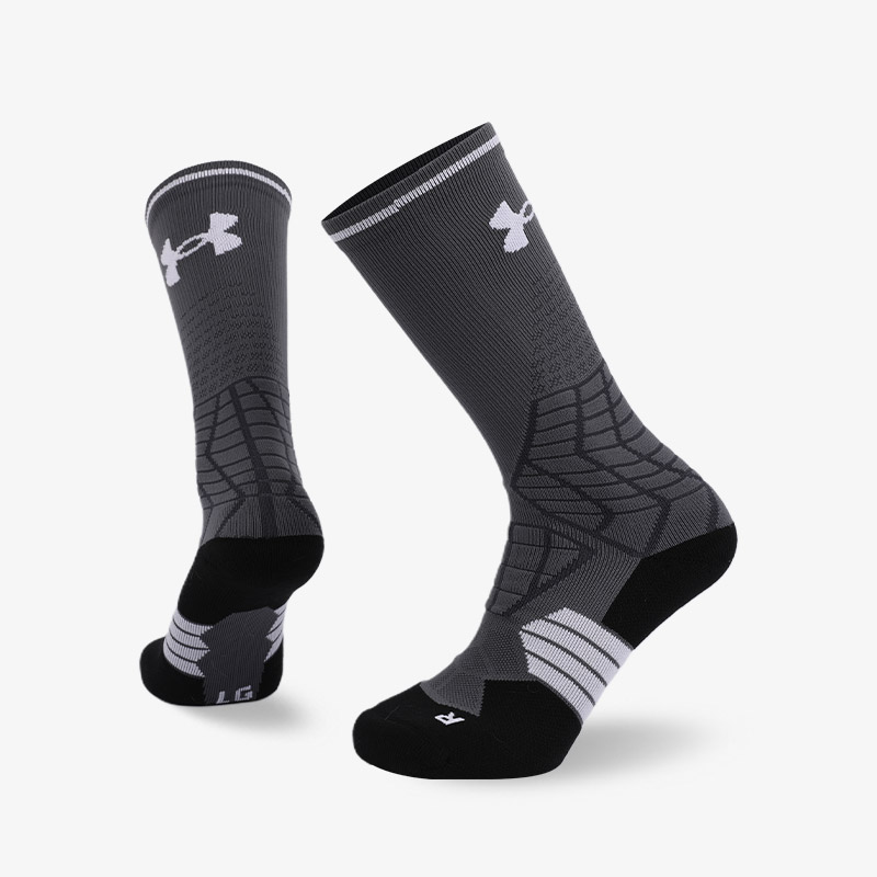144N Grey and white sport series terry socks