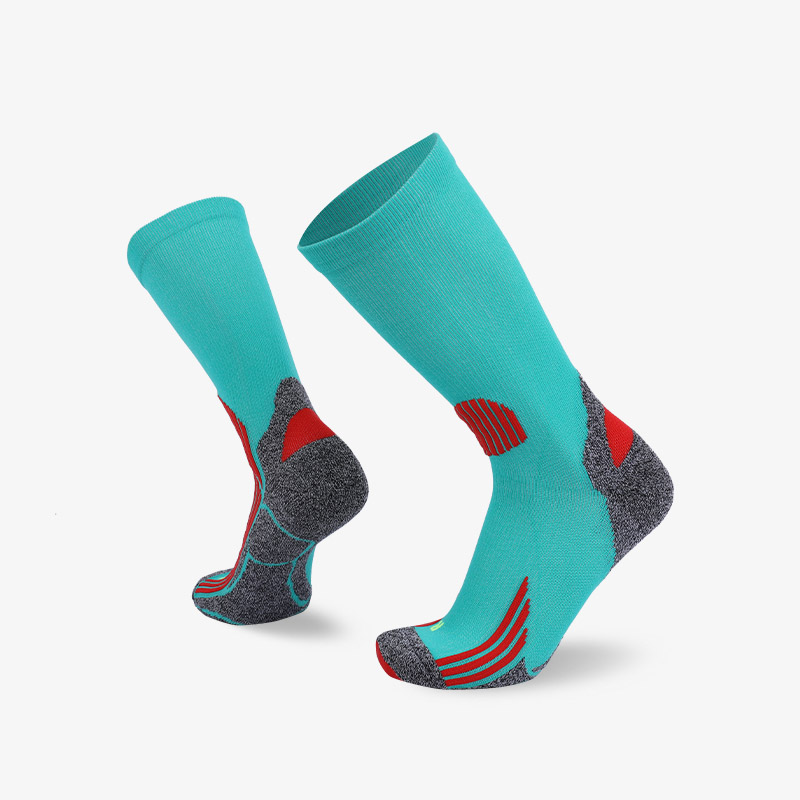 144N Turquoise sport series terry socks