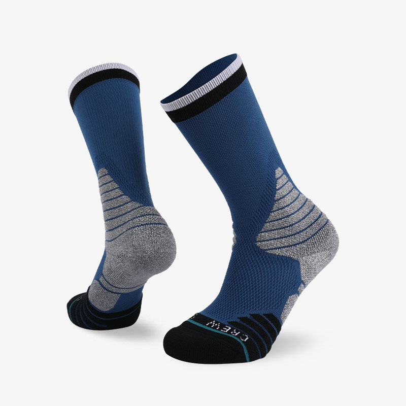 144N Cyan and light gray sport series terry socks