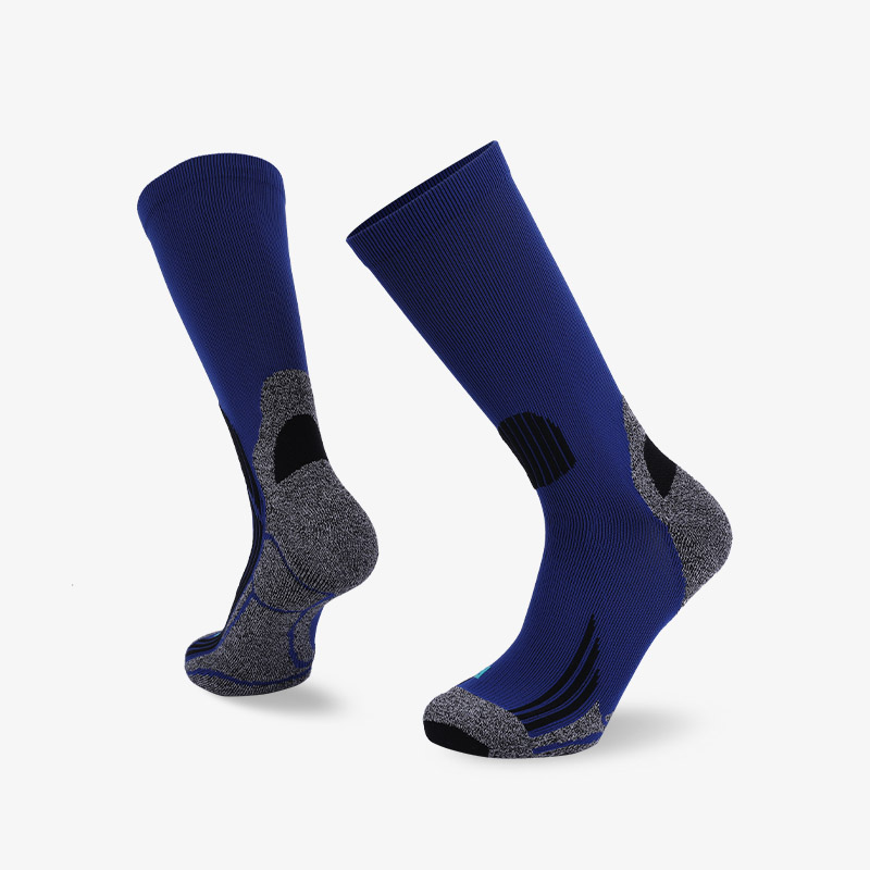 144N grey blue sport series terry socks