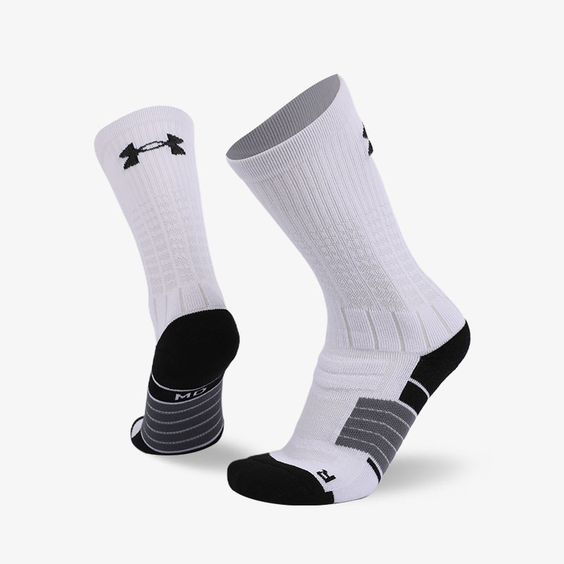 144N White body and black background sport series terry socks