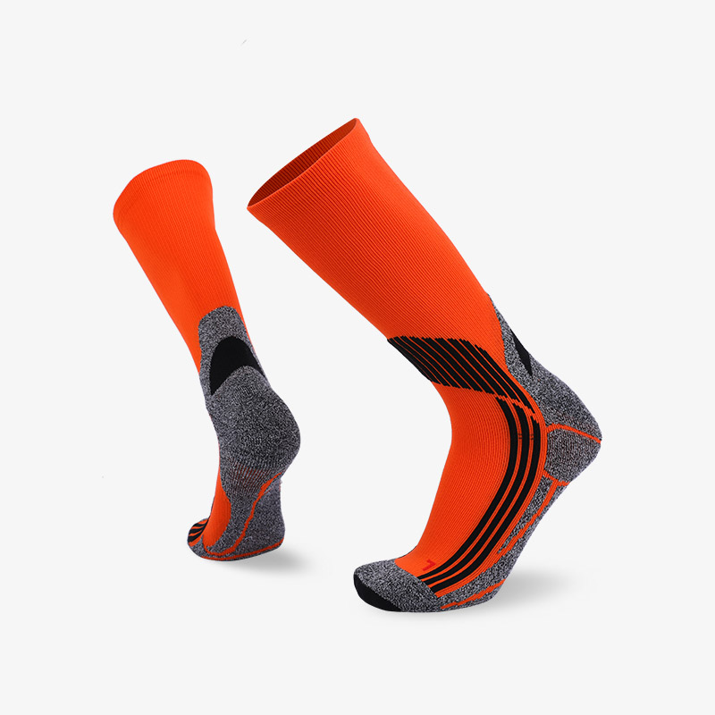 144N Fluorescent orange sport series terry socks