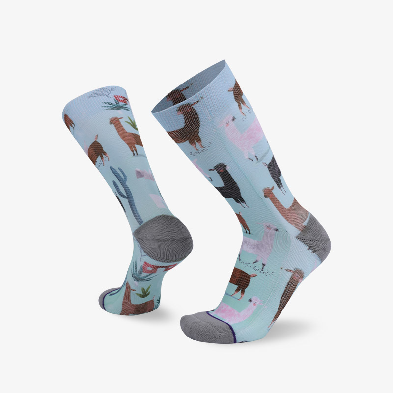 144N sheep sublimation series terry socks