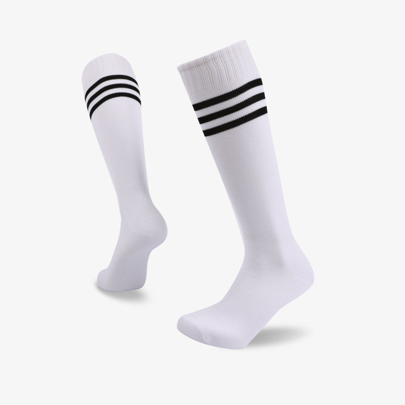 144N White body with black stripes footbal sock