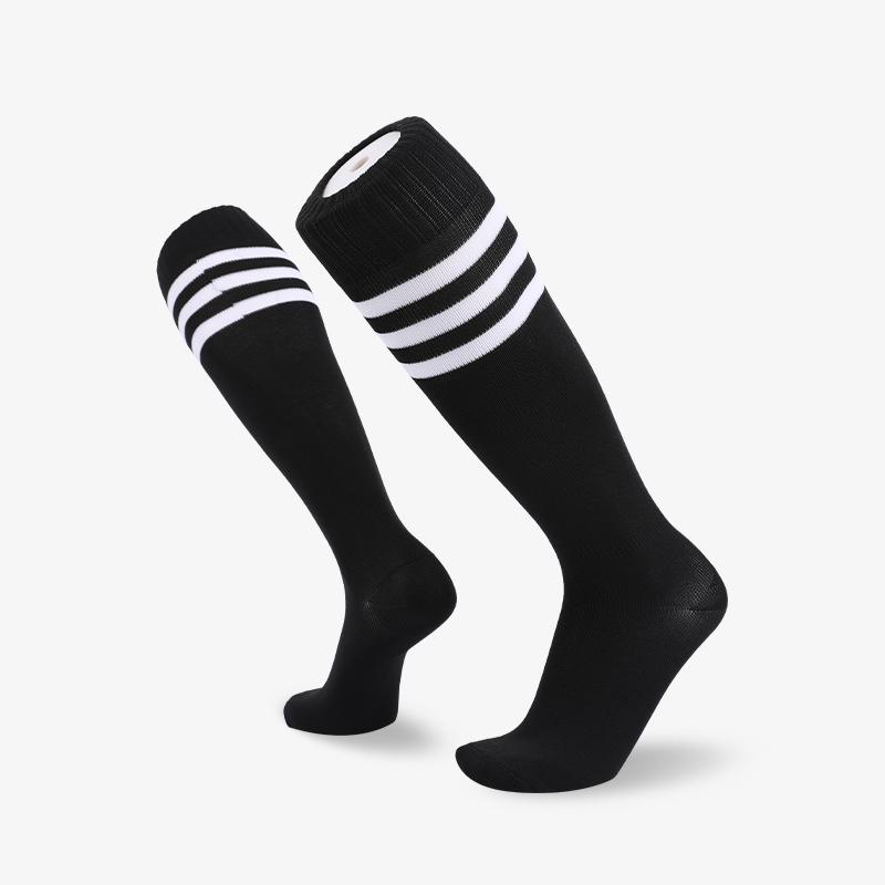 144N Black body with white stripes footbal sock
