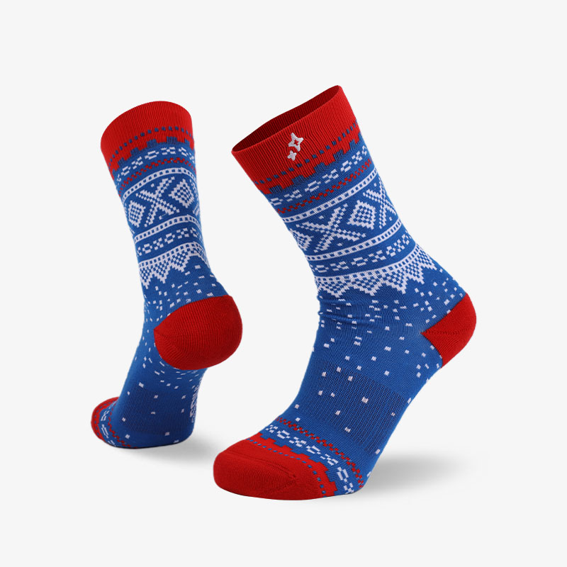 168N White dots on blue background normal socks
