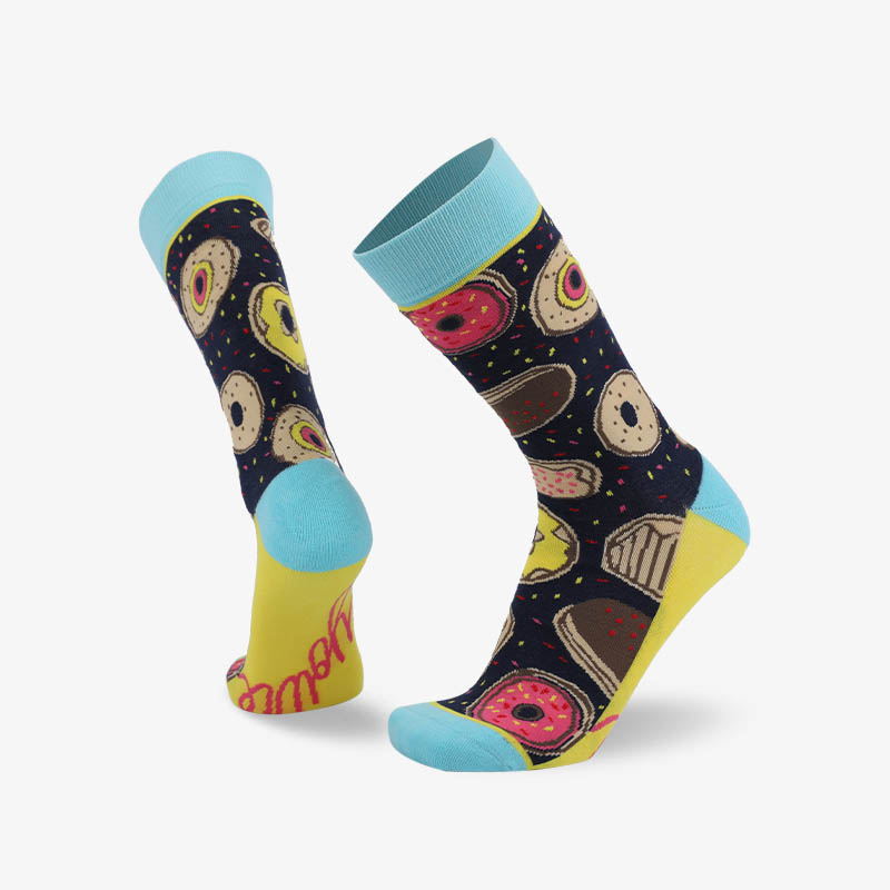 200N Donuts woven pear acquard series terry socks