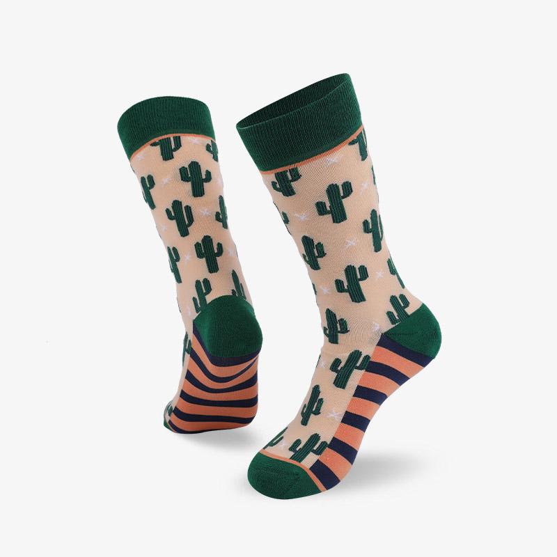 200N cactus woven pear acquard series terry socks