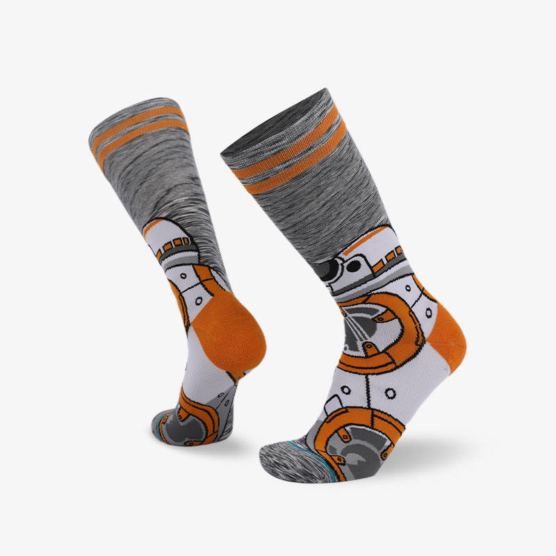 200N Orange gray normal terry socks