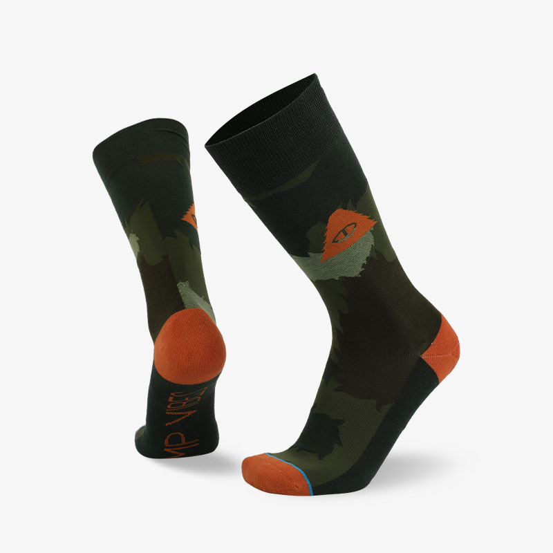 200N Dark green normal terry socks