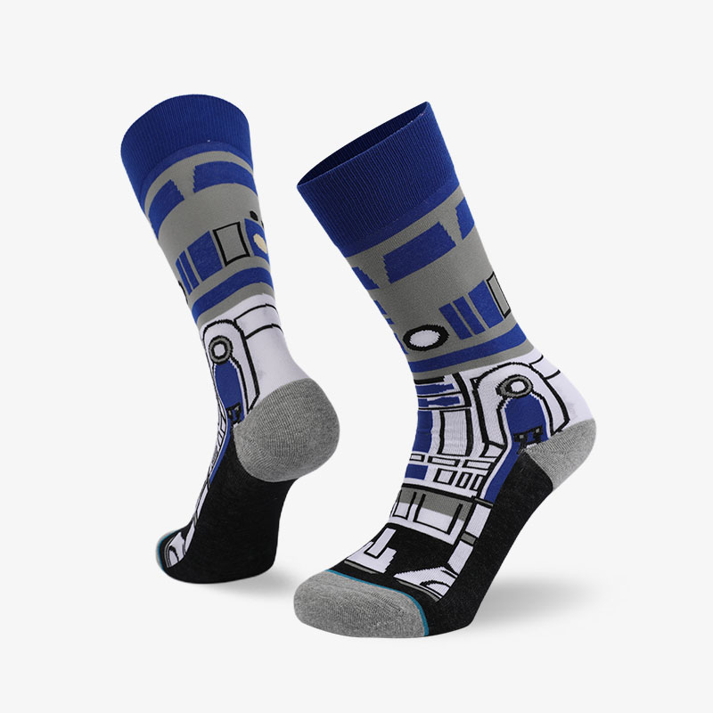 200N grey blue normal terry socks