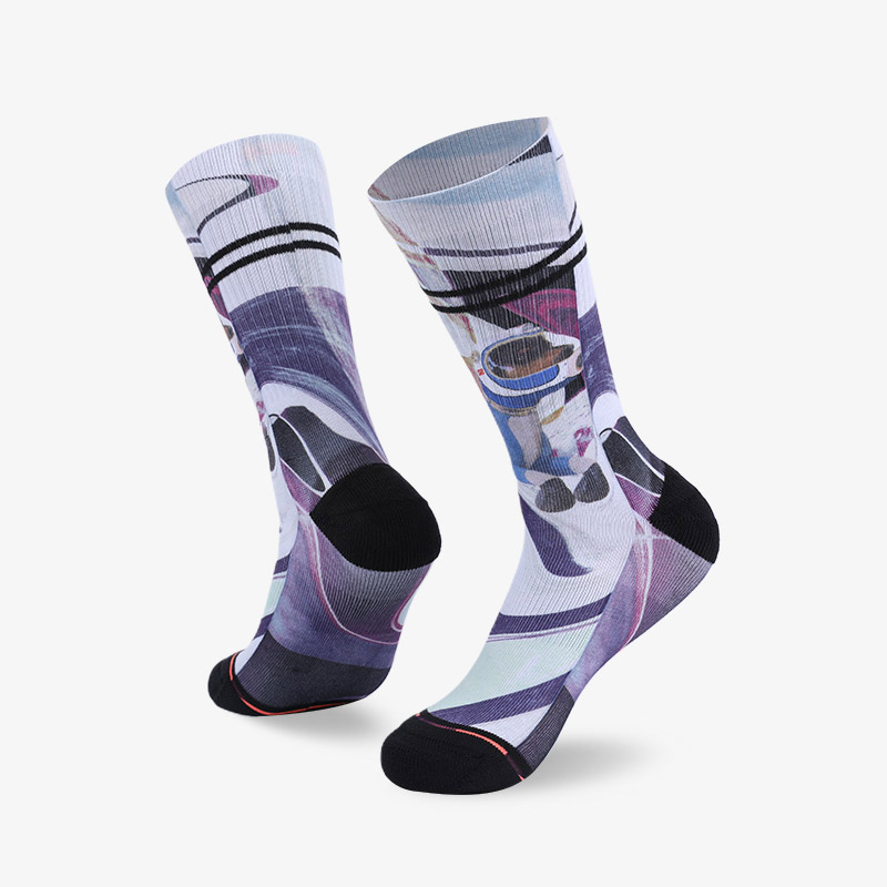 200N Space dog sublimation series terry socks