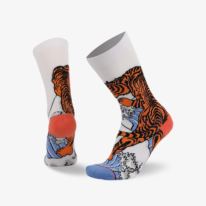 200N Crouching tiger Chinese elements series terry socks