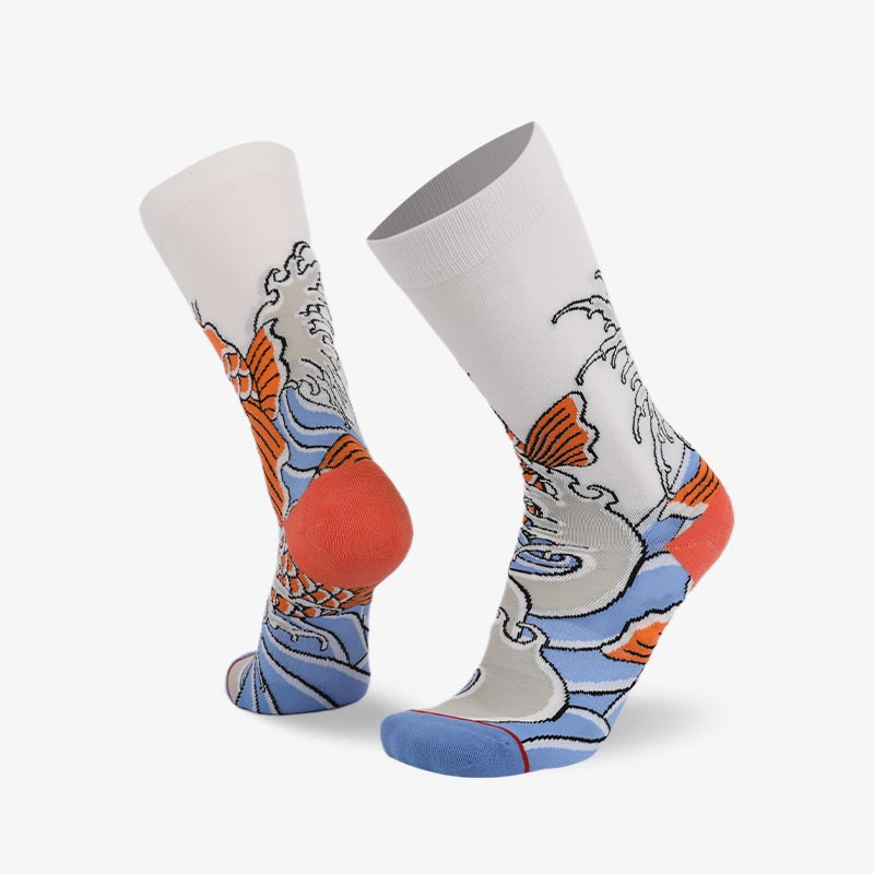 200N Koi  Chinese elements series terry socks