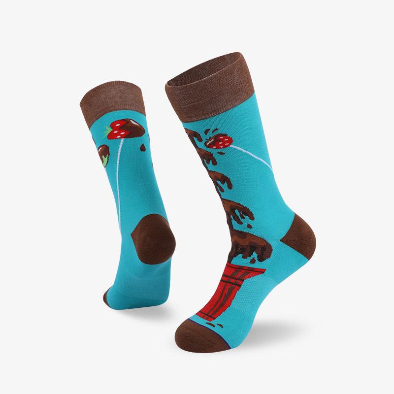 200N chocolate woven pear acquard series terry socks