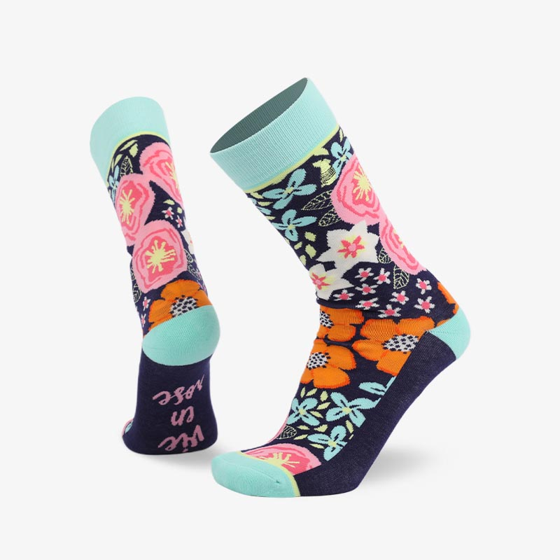 200N All flowers bloom woven pear acquard series terry socks