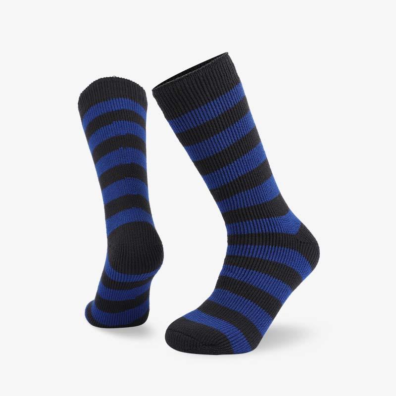 72N Black blue stripes thermal sock