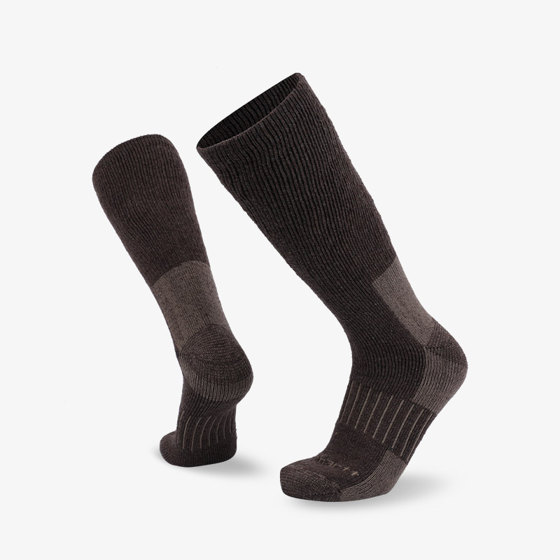 84N Brown gray long tube hiking sock