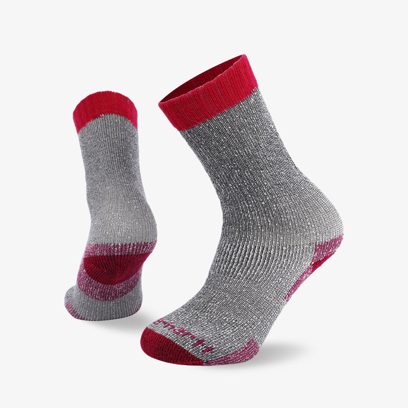 84N Red-gray tube hiking sock