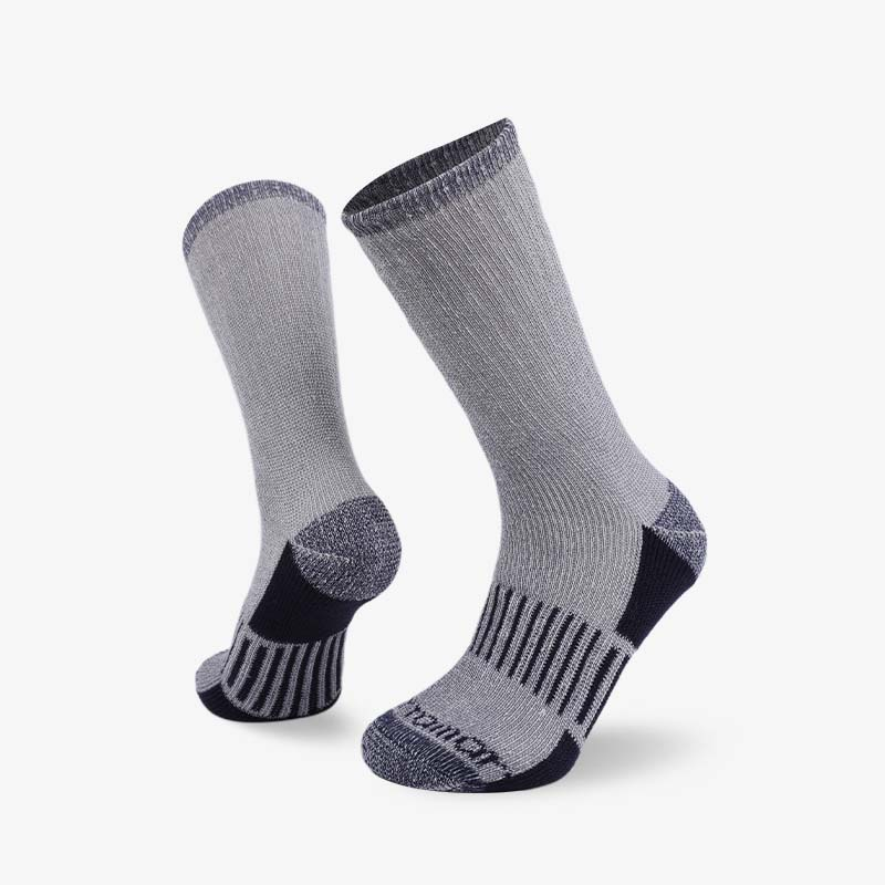 84N Black navy gray hiking sock