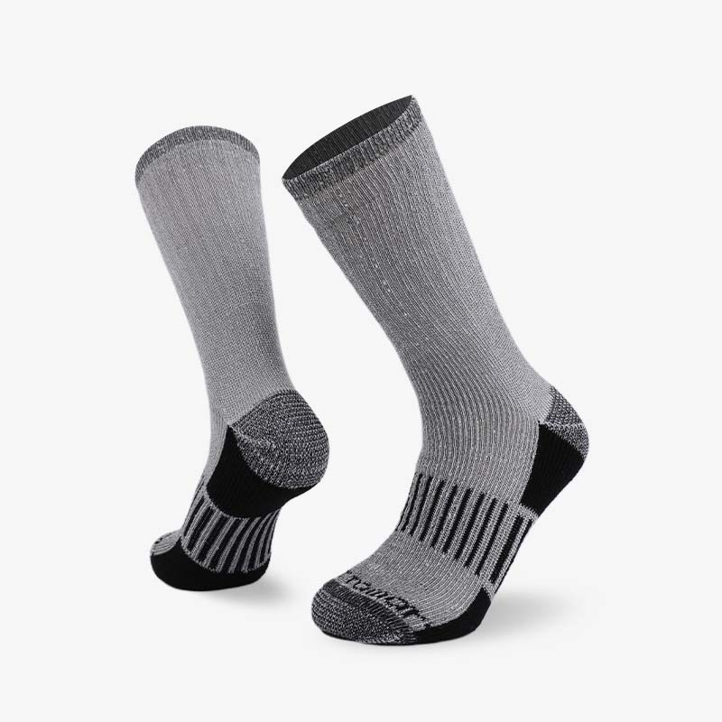 84N Gray body with black base hiking sock