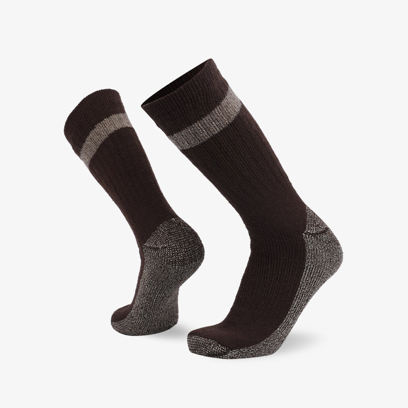 84N Brown gray hiking sock